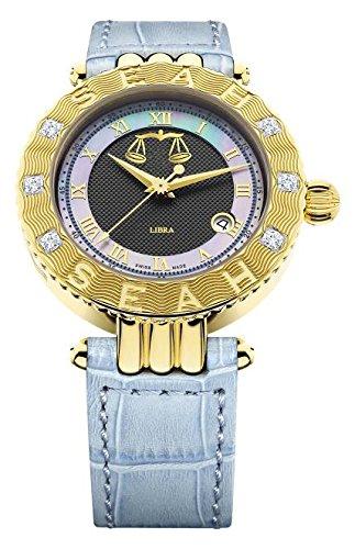 Seah-Empyrean-Zodiac-sign-Libra-42mm-Yellow-Gold-Tone-Swiss-Made-12-carat-Diamond-watch