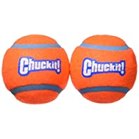 Chuckit! Medium Tennis Ball 2.5 inch, 2-Pack Shrink Sleeve Package