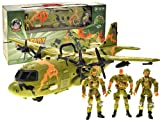 AMPERSAND SHOPS Kids Military Combat Airforce Airplane Toy C130 with Lights and Sound