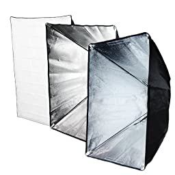 LimoStudio 600 Watts Photography Pro Studio Monolight Strobe Flash Softbox Light Lighting Kit, 3 x 200 W Studio Flash Strobe, 3 x 36 in x 24 in Softbox Reflectors, 3 Heavy duty Light Stands, AGG927V2