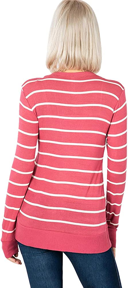 Cardigans for Women Long Sleeve Cardigan Knit Snap Button Sweater Regular /& Plus