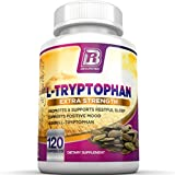 BRI Nutrition L-Tryptophan - 1500mg Servings - 120 Count of L Tryptophan - 500 mg per Capsule
