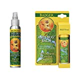 Badger 4 oz. Anti-Bug Shake and Spray and Badger 1.5 oz. Anti-Bug Balm Sticks bundled by Maven Gifts