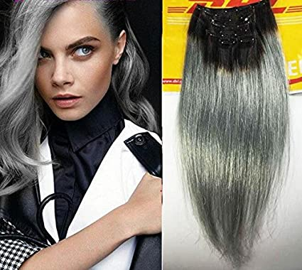 Sexyqueenhair brasileño de diseño del espacio color gris y ...