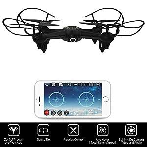 "Hover-Way 2.4 GHZ AVA Drone with 720P Video Camera & 8 GB MicroSD Card- Smart Phone Remote via ""HVR Avadrone"" App"