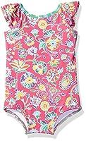 Masala Kids Little Girl's Flutter One Piece, Ananya Floral Pink, 4Y