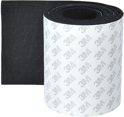 ofnmy patin feutre meuble adhesif bande de feutre autocollant pad en feutre antiderapant pour protection pied de table chaise canape noir 4mm