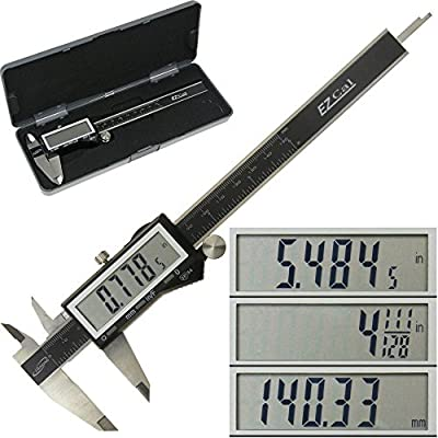 "iGaging IP54 Electronic Digital Caliper 0-6"" Display Inch/Metric/Fractions Stainless Steel Body from iGaging"