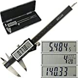 iGaging IP54 Electronic Digital Caliper 0-6'' Display Inch/Metric/Fractions Stainless Steel Body