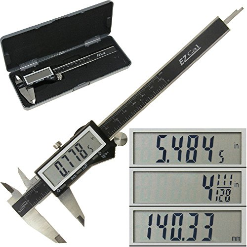 iGaging-IP54-Electronic-Digital-Caliper-0-6-Display-InchMetricFractions-Stainless-Steel-Body