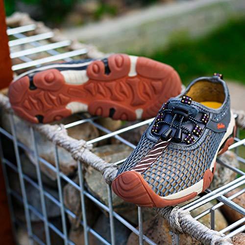 Cordon Et Mode Overmal Shoes Randonnée Rapide Pool Diving Hommes Plage Gris À Chaussures Outdoor Nager Piscine Baskets Séchage Aquatiques De nwvxwaq0Wz