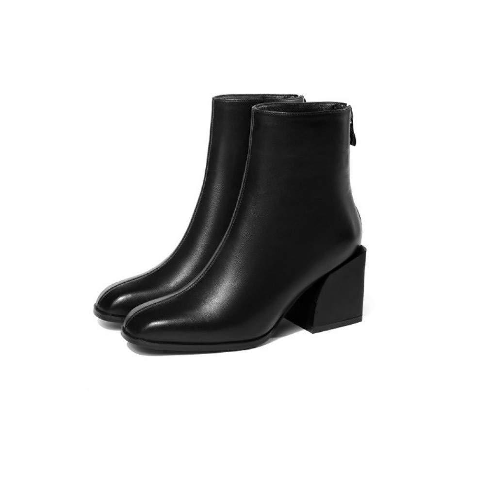SchuheHAOGE Damenmode Grau Stiefel Kunstleder Herbst Stiefel Chunky Heel Stiefel Grau Damenmode Silber   Pink 0f84e0