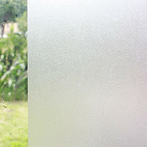 Frosted Window Vinyl (ColorfulHall Large Frosted Non-adhesive Privacy Window Film 78.74