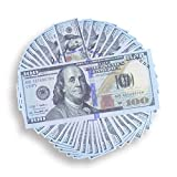 jem movies - Prop Money | Play Money Total of $10,000 | 100 Count of 100 Dollar Bills | Full Print Double-Sided Banded | Life-Size Realistic Money for movie props, advertising, TV and videos | Monopoly Money