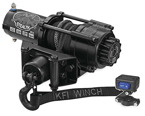 New KFI 2500 lb Stealth Edition Winch & Model Specific Mounting Bracket - 1997-1999 Polaris Sport 400 2x4 ATV by Honda