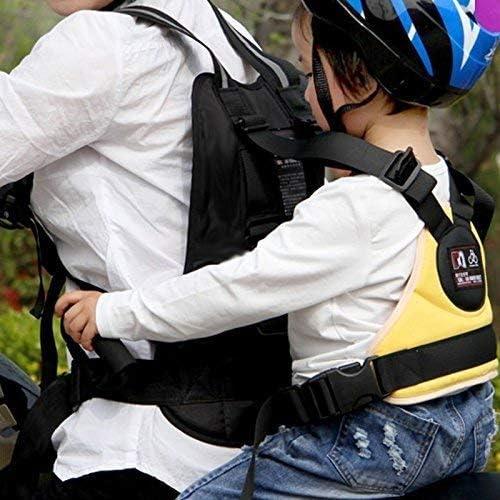 Motorrad Oxford Einstellbare Kinder Sicherheitsgeschirr Mit Griffen Komfortable Kinderweste Color : Yellow
