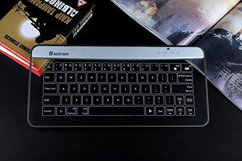 Bastron inalámbrico Bluetooth teclado con función de ratón ...
