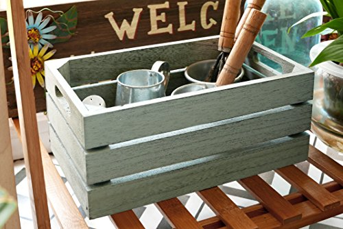 SLPR Decorative Storage Wooden Crates (Set of 3, Light Blue) | Perfect for Floral Arrangements Gardening Wedding Vintage Country Chic Rustic Distressed Style by SLPR (Image #1)