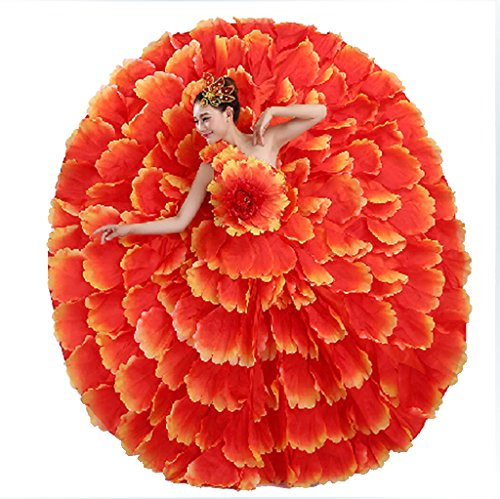 Flamenco Dance Costume Petal Skirt Spanish Flamenco Dress 720 Degreen - Adult Flamenco Skirt