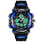 AZLAND Outdoors Sports Waterproof Digital Boys Watch Kids with Dual-Time/Chronograph/Alarm/Week/Date Multi Functions