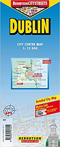 City Map Of Dublin Ireland.City Map Of Dublin Ireland Berndtson Maps 9783865921345