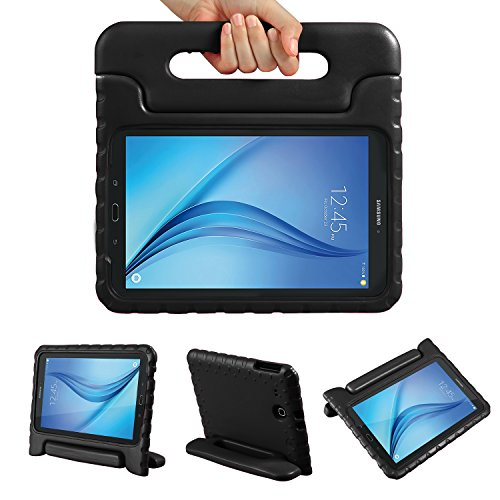 Color Our Life Samsung Galaxy Tab E 9.6 Kiddie Case-Shock Proof Light Weight Convertible Handle Stand Cover for Samsung Galaxy Tab E 9.6 Inch Tablet, Black