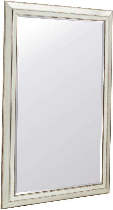 Hana Decor Modern Design Silver Leaf Finish Wall Mirror 24 X 36 Home Kitchen