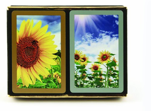 Congress Sunflower Standard Index Playing Cards (Pack of 2)