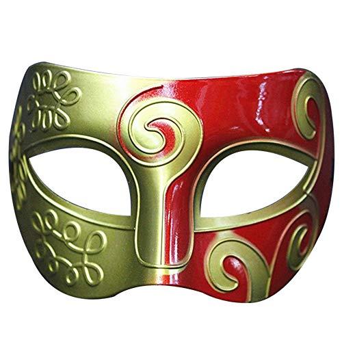 MiniPoco Retro Roman Gladiator Mask Halloween Mardi Gras