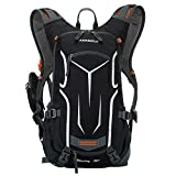 Lixada Cycling Backpack, 18L Bicycle Backpack Waterproof Breathable with Rain Cover for Outdoor Travel Hiking Climbing (2L Hydration Bladder Optional)