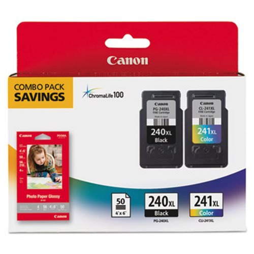 Canon Combo Pack PG-240XL Black, CL-241XL Color Ink, 5206B005