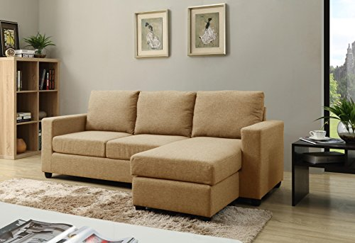 NHI Express Alexandra Convertible Sectional Sofa, Mocha