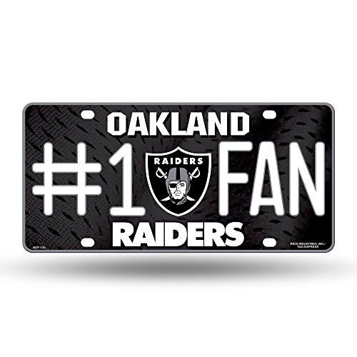 NFL Oakland Raiders #1 Fan Metal License Plate Tag