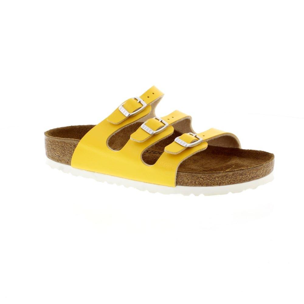 Birkenstock Florida Zuecos de Birko, Mujer 40 EU|Graceful Amber Yellow