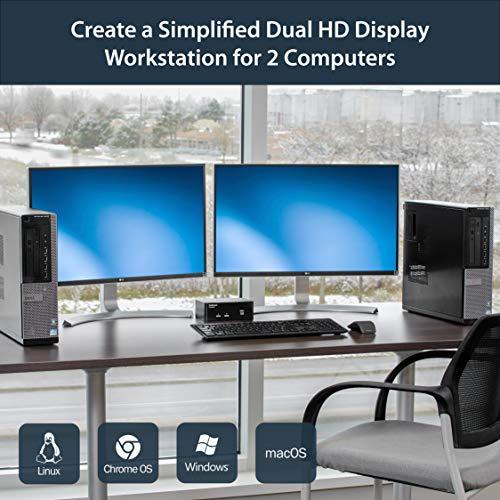 StarTech com Dual Monitor DisplayPort KVM Switch - 2 Port