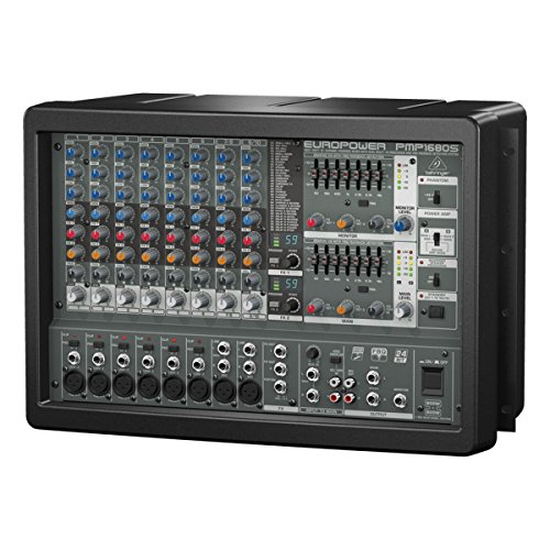 (Behringer Europower PMP1680S | 1600W 10-Channel Powered Mixer Dual Multi FX Processor FBQ Feedback Detection System)