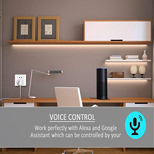 Smart Plug 2 Pack, Control Your Electric Devices Anytime and Anywhere, Timer Outlet with USB Port, No Hub Required, Compatible with Alexa & Google Assistant [UL & FCC Certificated] by Loneyshow (Image #5)