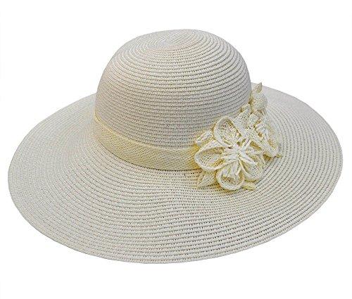 Chapeau de soleil femme, ville, plage, vintage, fashion, tressé paille (42102)