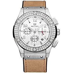 Women, Quartz Watch, Business, Leisure, Outdoor, Multifunction, 6 Pointer, PU leather, M0518