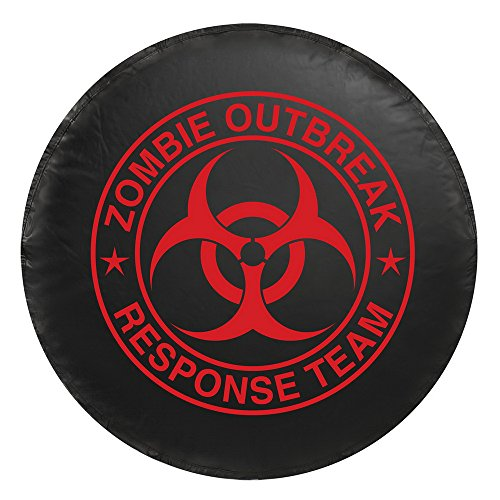 (Bully CM-07R Red Zombie Spare Tire Cover - Large)