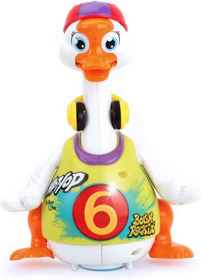 Popsugar Dancing Hip Hop Musical Goose with Interactive Function, Music and Lights Toy