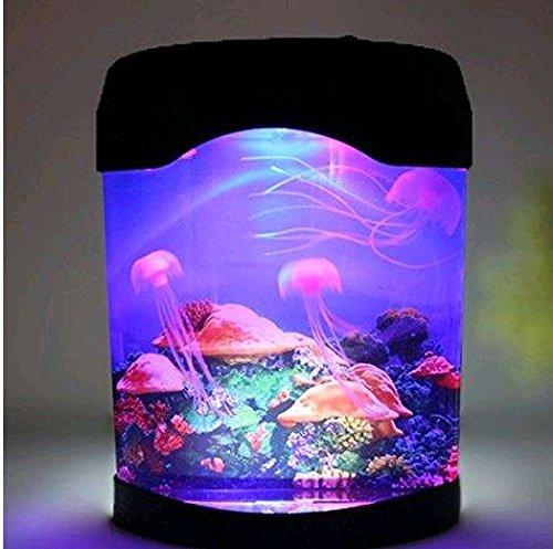 SHSYCER 360 Jellyfish Aquarium Kit with LED Lighting Easy to use USB available (Kits Lighting Aquarium)