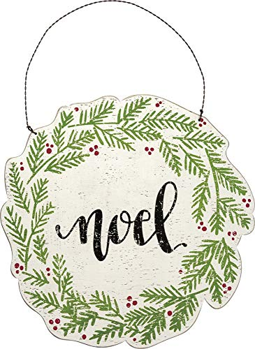 Primitives by Kathy Hanging Wooden Wreath, Noel