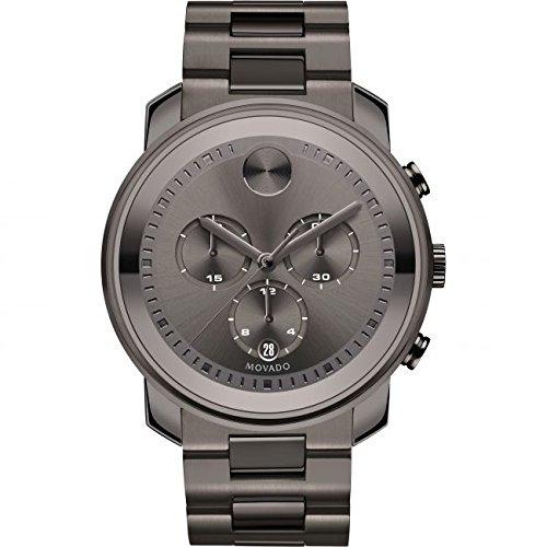 Movado Bold Reloj de hombre cuarzo suizo 44mm correa de acero 3600277: Amazon.es: Relojes