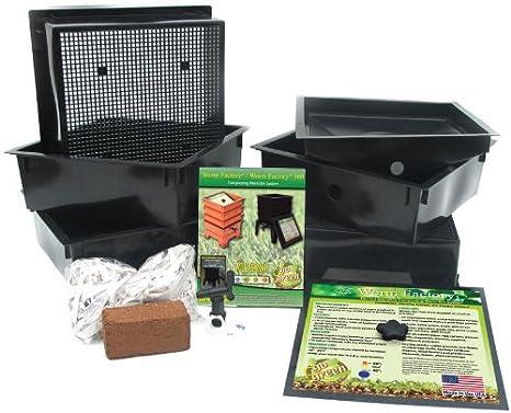 Natures Footprint Gusano fábrica con 5 bandejas Worm Tacho ...