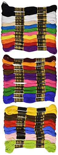 Cotton Embroidery Floss Pack 8.75 Yards 36/Pkg-Primary Colors