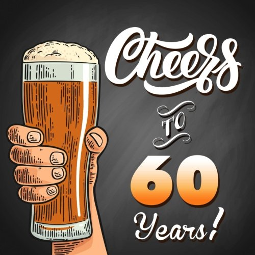 Cheers To 60 Years!: Black Guest Book For 60th Birthday Party Or Anniversary, 150 Pages To Write Comments In ebook
