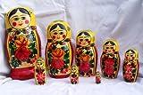: Russian Traditional 8 Pc/8 in Nesting Doll Semenovo S-108