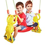 COLORTREE Multi-Child Swing Set Back to Back Rider Glider