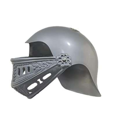 U.S. Toy Childrens Plastic Knight Medieval Crusader Costume Helmet Silver Gray: Clothing